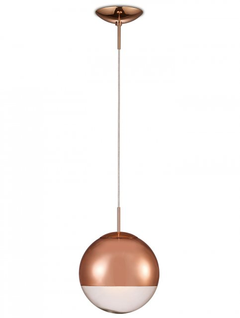 Globe 25 copper pendant