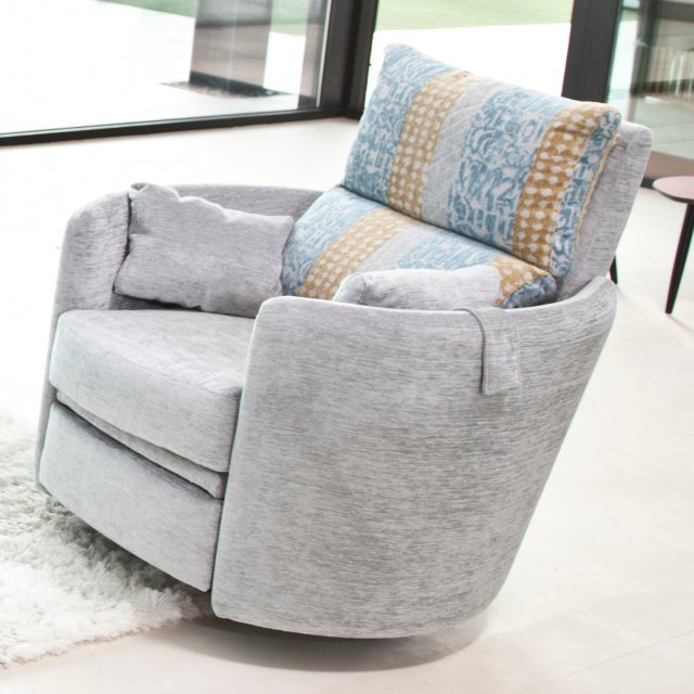 Electric swivel recliner armchair