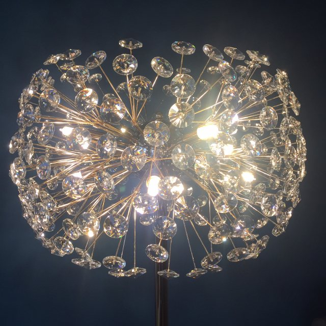 Stunning crystal gold standard lamp