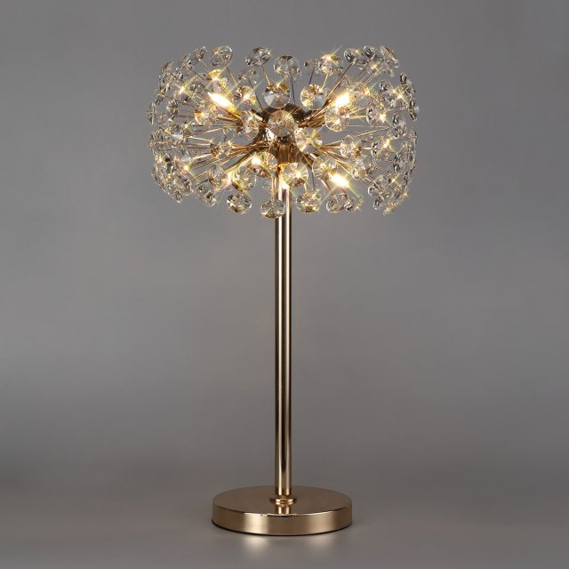 Julia Jones Barcelona 6 french gold crystal table lamp