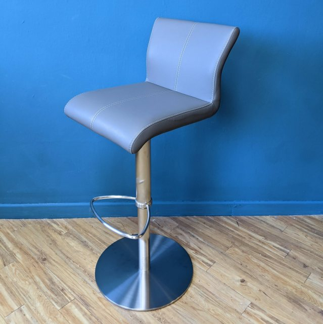 Faux leather swivel barstool