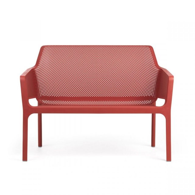 Nardi Net outdoor bench coral