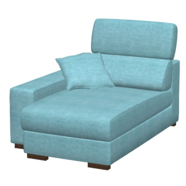 Fama Fama Loto Fabric Chaise Left Arm Mod