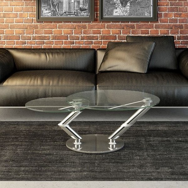 Julia Jones Cannes Glass Coffee Table