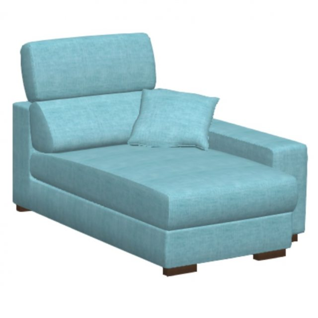 Fama Fama Loto Fabric Chaise Right Arm Mod