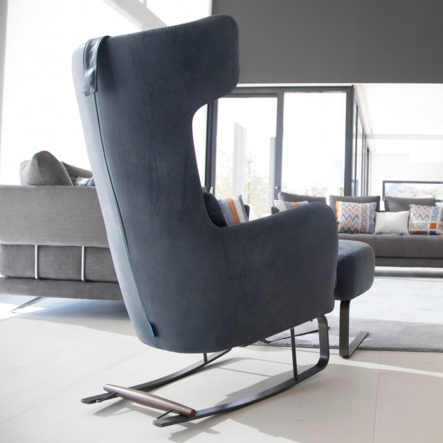 Fama rocking armchair with rocking brake