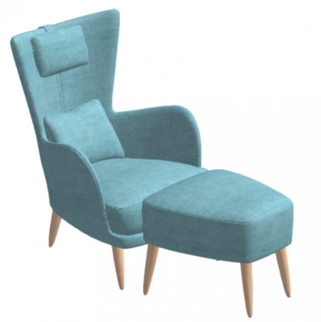 Fama Kylian Chair with footstool
