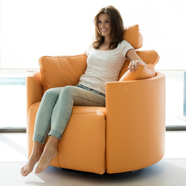 Fama Moonrise Leather reclining chair