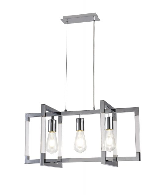 Civis nickel triple pendant light