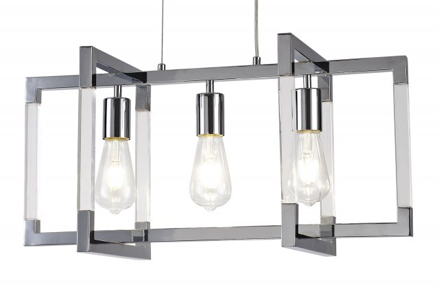 Julia Jones Civis nickel triple pendant light