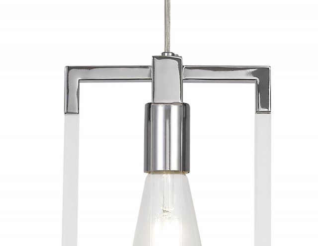 Julia Jones Civis nickel quad pendant light