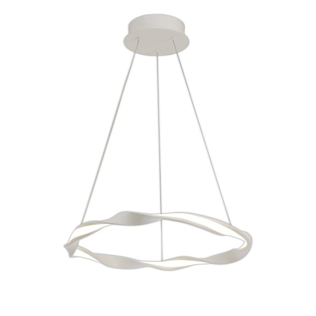 Melilla Small White Twist Pendant Light