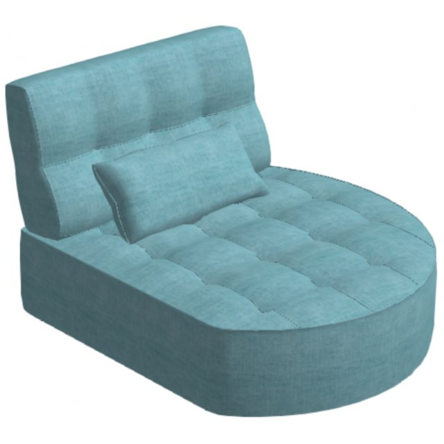 Fama Fama Arianne Love Round Chaise Right Module