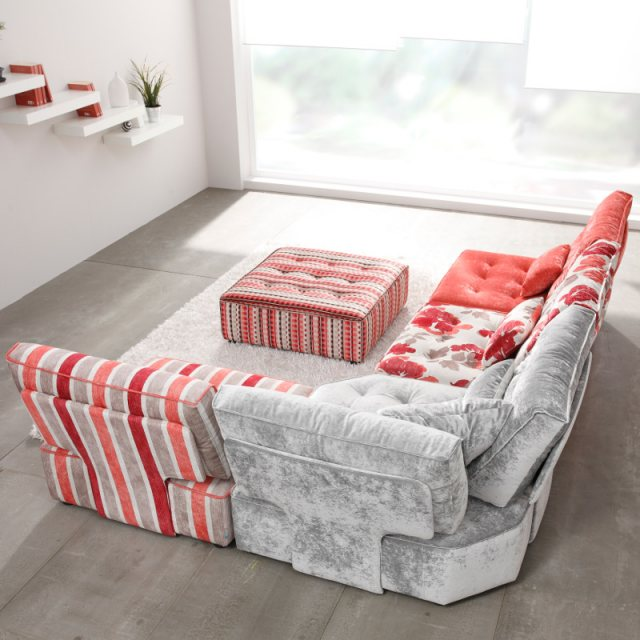 Fama Arianne Love corner sofa with footstool
