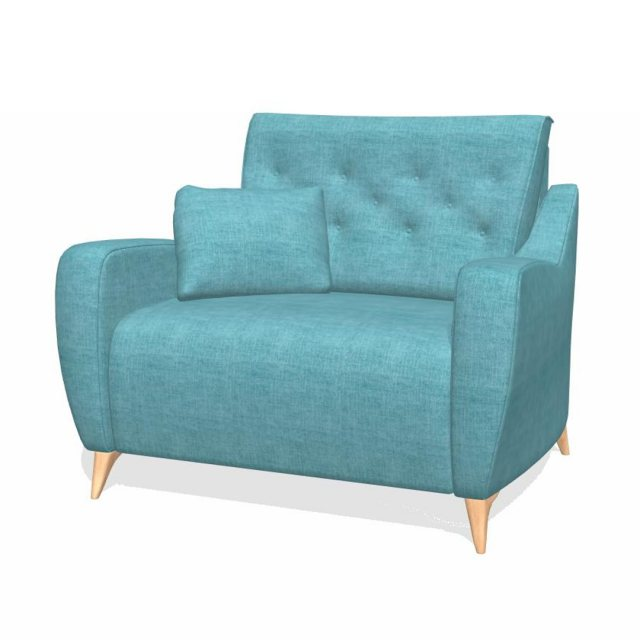 Reclining loveseat by fama