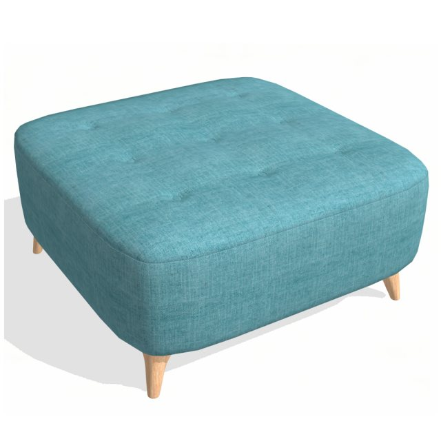 Fama Fama Astoria fabric Footstool PUFD