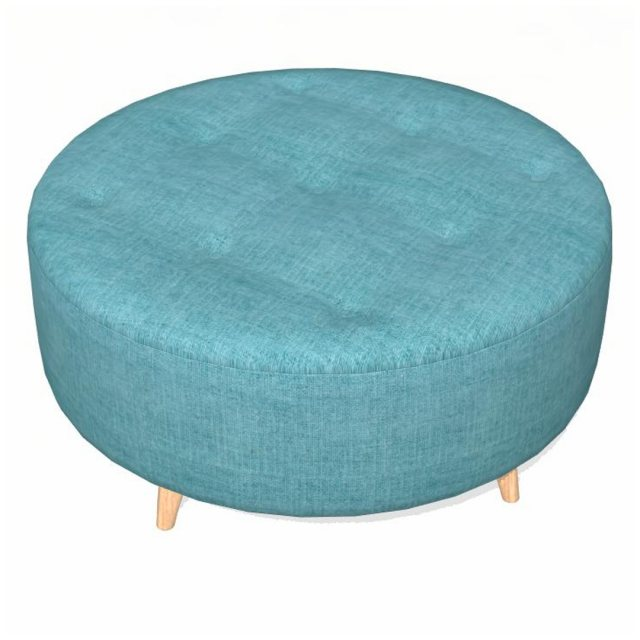 Fama Fama Astoria fabric Footstool PUFRL
