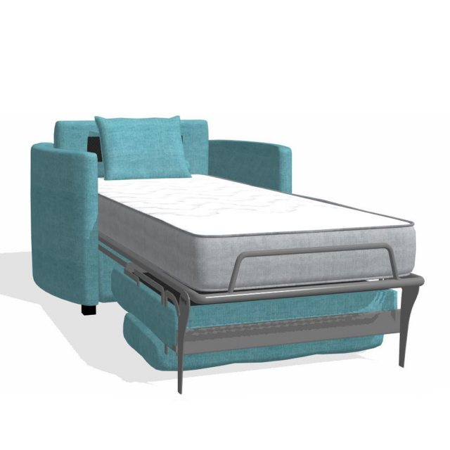 Fama Fama Bolero Armchair bed curved arm