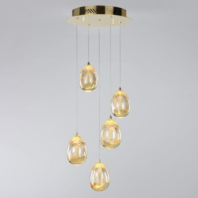 Julia Jones Modica 5L gold cluster pendant