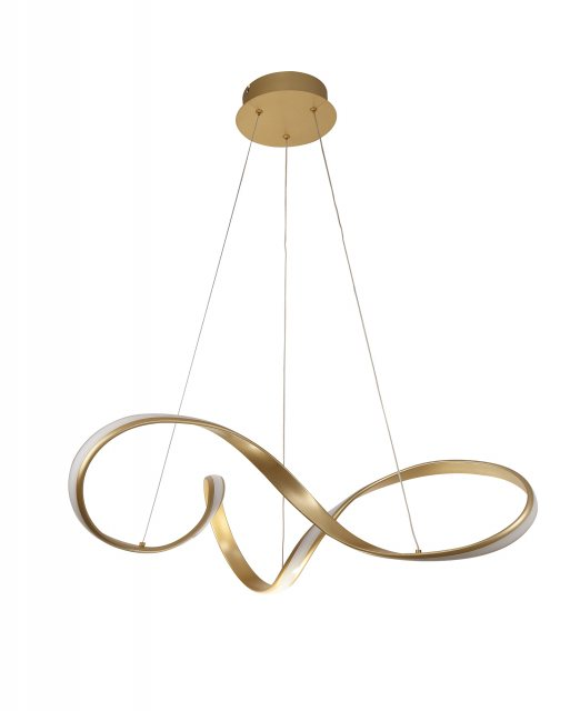 Julia Jones Basille Gold Large Twist Pendant Light