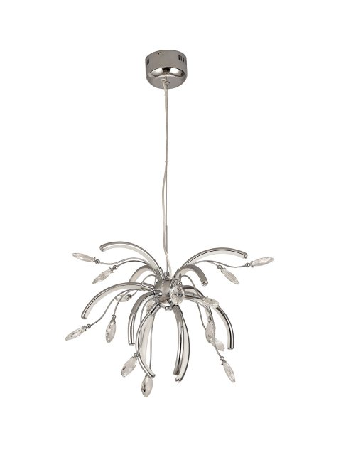 Catrine Crystal Chrome Medium Pendant Light