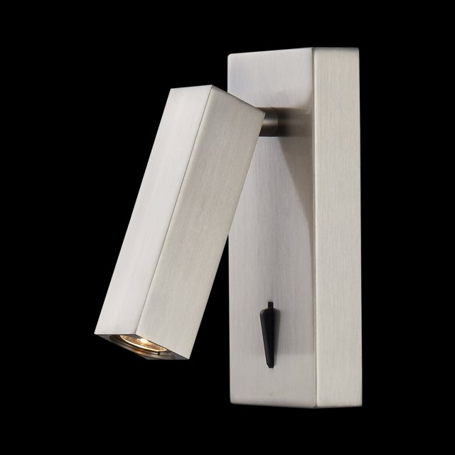 Julia Jones Ronda Square satin nickel reading light