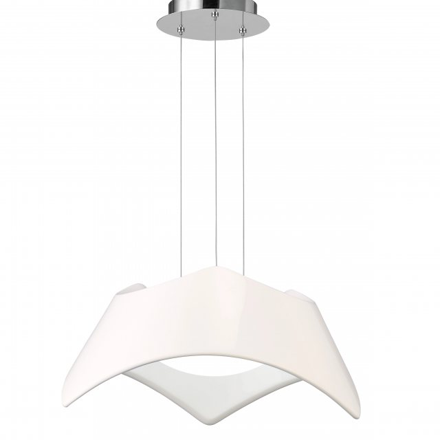 Julia Jones Triple white pendant light