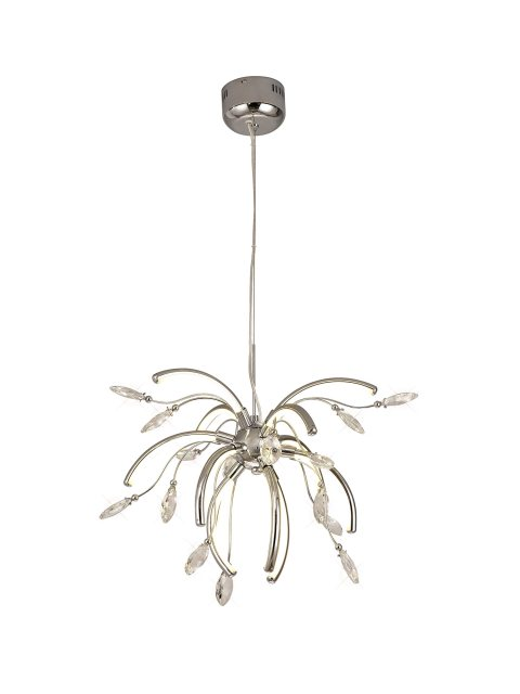 Julia Jones Catrine Crystal Chrome Medium Pendant Light