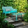 Nardi Net outdoor bench & coffee table turquoise